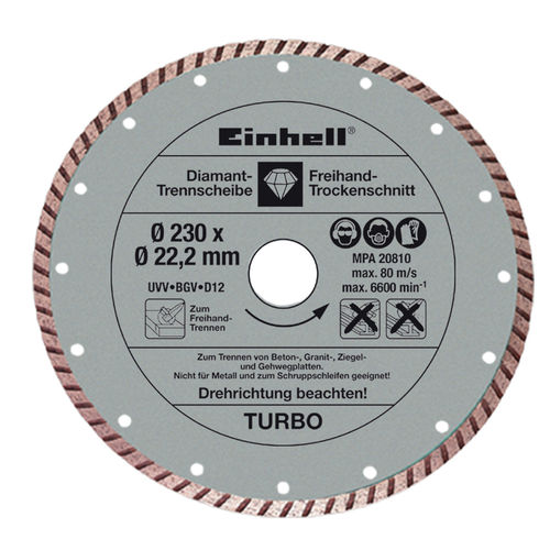 Set 2 Dischi Diamantati Ø 230 Mm Cod.4440333 - Einhell