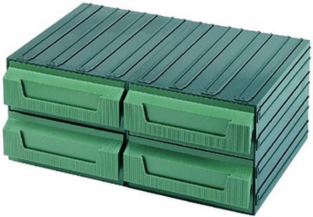 Cassettiere Terry Componibili - Verde  8 H Cod.4039018 - Terry Plastic