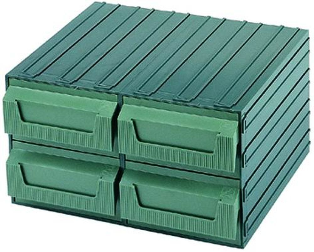 Cassettiere Terry Componibili - Verde  7 Cod.4039027 - Terry Plastic