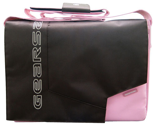 "BORSA LOS ANGELES ""PC 15,4"""" MARRONE ROSA""       Cod.489901336 - Mkc"