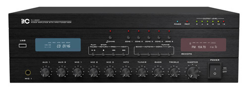AMPLIFICATORE TI-120MT 5 ZONE 120W+TUNER+USB/SD PLAYER Cod.550111038 - ITC