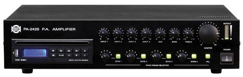 AMPLIFICATORE PA-242S 240W LETT CD/USB 4ZONE           Cod.550112039 - Mkc